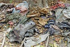 La ropa en la matanza coloca, un monumento a las víctimas Imagen de archivo libre de regalías
