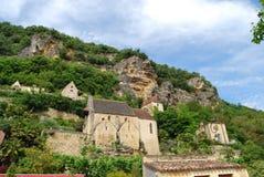 La Roque-Gageac,西南法国 免版税库存照片