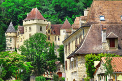La Roque-Gageac,Dordogne. France Stock Images