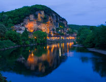 La Roque-Gageac, Francia Stockfotografie