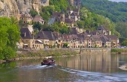 La Roque-Gageac, Francia Royaltyfria Foton
