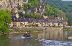 La Roque-Gageac, Francia Photos libres de droits
