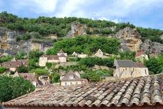 La Roque-Gageac, Francia sudoccidentale Immagine Stock