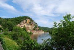 La Roque-Gageac, Francia sudoccidentale Fotografia Stock