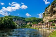 La roque gageac Frankreich Stockbilder