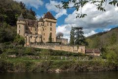 La Roque Gageac , french village in valley of Dordogne Royalty Free Stock Images