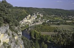 La Roque-Gageac Panorama Stock Photography