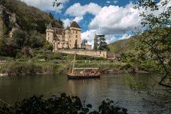 La Roque Gageac, pueblo francés en el valle de Dordoña Fotografía de archivo libre de regalías