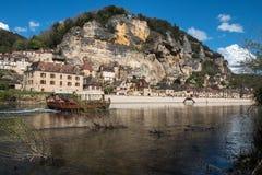 La Roque Gageac, pueblo francés en el valle de Dordoña Imágenes de archivo libres de regalías
