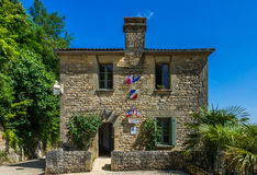 La roque gageac  town hall perigord france Stock Photography