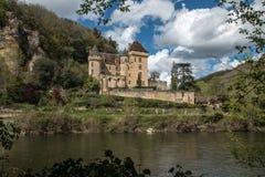 La Roque Gageac, villaggio francese in valle della Dordogna fotografia stock libera da diritti