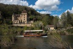 La Roque Gageac, villaggio francese in valle della Dordogna fotografie stock