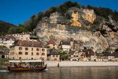 La Roque Gageac, villaggio francese in valle della Dordogna fotografia stock