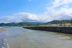 La Rosa beach under renovation on the coast of Venezuela near Puerto Cabello Stock Photos
