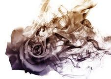 La rosa dal fumo fotografia stock