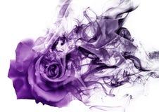 La rosa dal fumo immagine stock libera da diritti