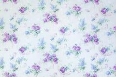 La rosa del blu fiorisce il modello del contesto su struttura del fondo della parete Fotografia Stock