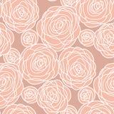 La rose pâle simple de couleur fleurit le modèle sans couture Photographie stock libre de droits