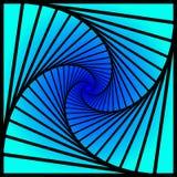 La rotación concéntrica interna, ajusta espiral el modelo geométrico abstracto de la ilusión óptica de las escaleras del fondo stock de ilustración