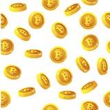 La rotation Bitcoin invente le modèle sans couture Devise d'Internet de Digital, fond de vecteur illustration de vecteur