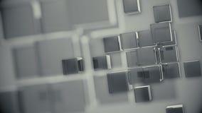 La rotation de fond cube la couleur argentée illustration libre de droits
