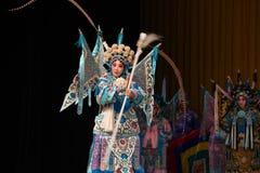 """La rotation de la dextérité des généraux de femmes de Pékin Opera"""" de main de  de € de Yang Familyâ Photo stock"""