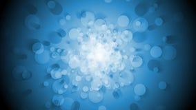 La rotation et la vidéo animée brillantes bleues de cercles font une boucle l'animation illustration libre de droits