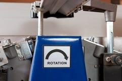 La rotation se connectent le jointer en bois électrique Images stock