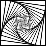 La rotazione concentrica interna, quadra a spirale il fondo geometrico astratto modello di illusione ottica delle scale illustrazione vettoriale