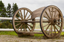 La rotella di legno Immagini Stock Libere da Diritti