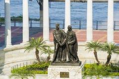 La Rotonda纪念碑在瓜亚基尔 库存图片