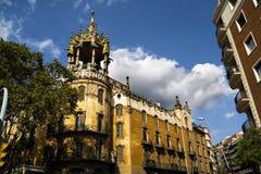 La rotonda in Barcelona. Spain Royalty Free Stock Photography