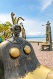 La rotonda degli sculputers del mare in Puerto Vallarta in Mexic immagine stock
