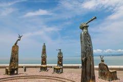 La rotonda degli sculputers del mare in Puerto Vallarta in Mexic immagine stock libera da diritti