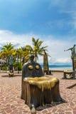 La rotonda degli sculputers del mare in Puerto Vallarta in Mexic immagini stock