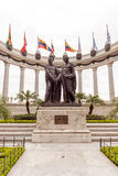 La rotunda manument in Guayaquil in Ecuador. Guayaquil, Ecuador - April 15, 2016: Statue monument la rotunda. This monument celebrates the mysterious meeting Royalty Free Stock Photography
