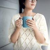 La rotura del aroma del café de la taza de la taza relaja el ocio Joy Concept Fotos de archivo libres de regalías