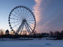 La roue d'observation de Montréal au vieux port à Montréal image libre de droits