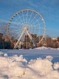La roue d'observation de Montréal au vieux port à Montréal avec du Sn photo stock
