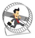 La roue de hamster Illustration Libre de Droits