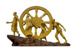 La roue de la loi d'isolement sur le fond blanc Photographie stock libre de droits
