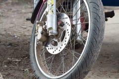 La roue de la moto photo libre de droits
