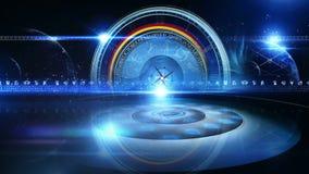 La roue de zodiaque avec l'astrologie signe Virtualset banque de vidéos