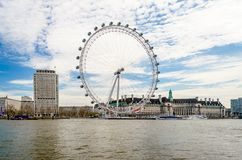 La roue panoramique d'oeil de Londres Photo libre de droits