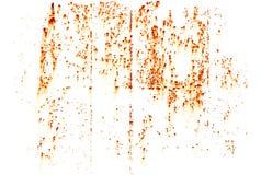 La rouille lumineuse souille la texture d'isolement sur le blanc Images libres de droits