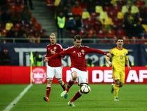 La Roumanie contre le Danemark Photographie stock