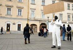 La Roumanie dans la protestation continue Image libre de droits