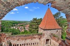La Roumanie - forteresse médiévale Slimnic photo libre de droits