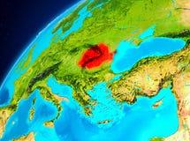 La Roumanie sur terre de l'espace Photo libre de droits
