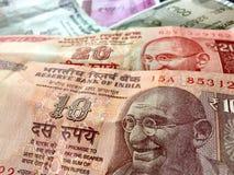 La roupie de devise de roupie indienne note toutes les dénominations Image libre de droits